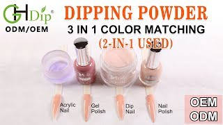 Nude Nails 2in1 use Dip&Acrylic Powder Color Match Gel Polish AND Nail Lacquer