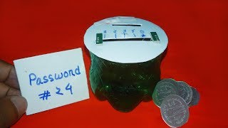 How to make piggy bank with Password - diy piggy bank with plastic bottle