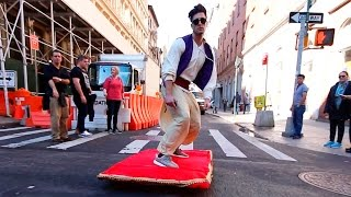 Video ALADDIN MAGIC CARPET PRANK download MP3, 3GP, MP4, WEBM, AVI, FLV Juni 2018
