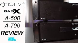 EMOTIVA A-500 & A-700 Review | The Budget Home Theater Amps!