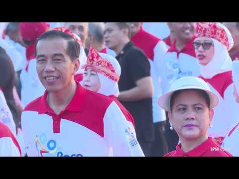 "Senam Poco-Poco Dalam Rangka Pemecahan Rekor Dunia ""Guinness World Record"", 5 Agustus 2018"
