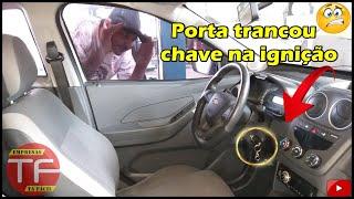Chave do carro na ignição e o alarme trancou as portas sozinho,porque?