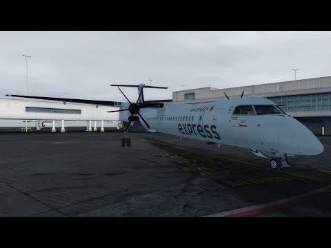 [P3Dv4.1] Air Canada express   DH8D Q400   Vancouver - Terrace   ESP & ENG