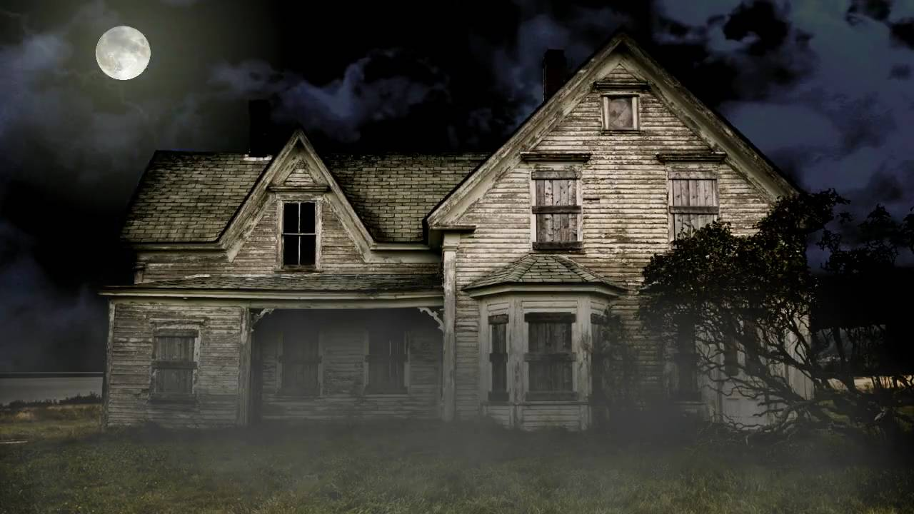 free haunted house halloween video background youtube - Halloween Background Video