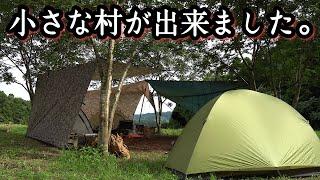 焚火会キャンプでゆったりと夏を過ごす。