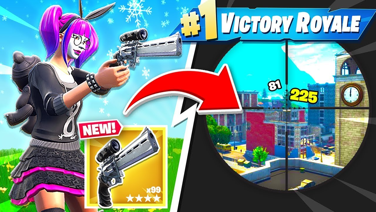 New Scoped Revolver Gameplay New Fortnite Update Youtube