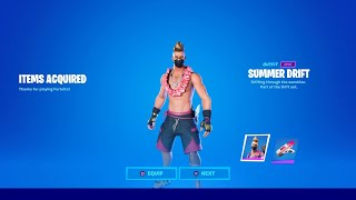 FORTNITE NEW SUMMER DRIFT SKIN! FORTNITE SUMMER DRIFT SKIN STYLES! FREE SUMMER DRIFT EDIT STYLES