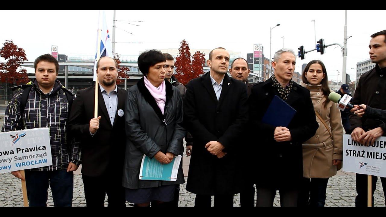 Konferencja Nowej Prawicy Wrocław i Roberta Maurera interwencja policji