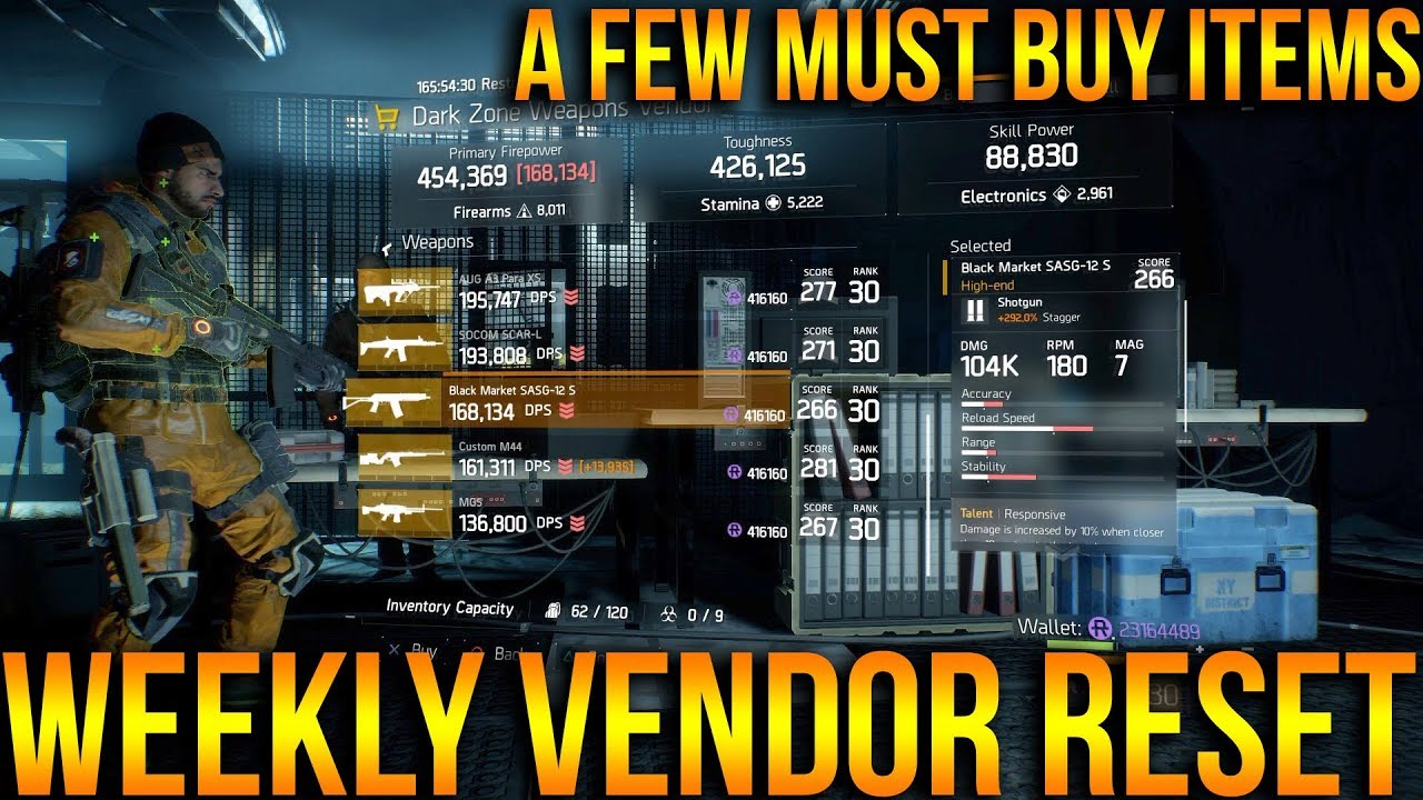 THE DIVISION | WEEKLY VENDOR RESET | MUST BUY ITEMS OF THE WEEK 2/23/2018