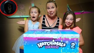 Game Master Mystery Hatchimals and Secret Message Box Fort Challenge
