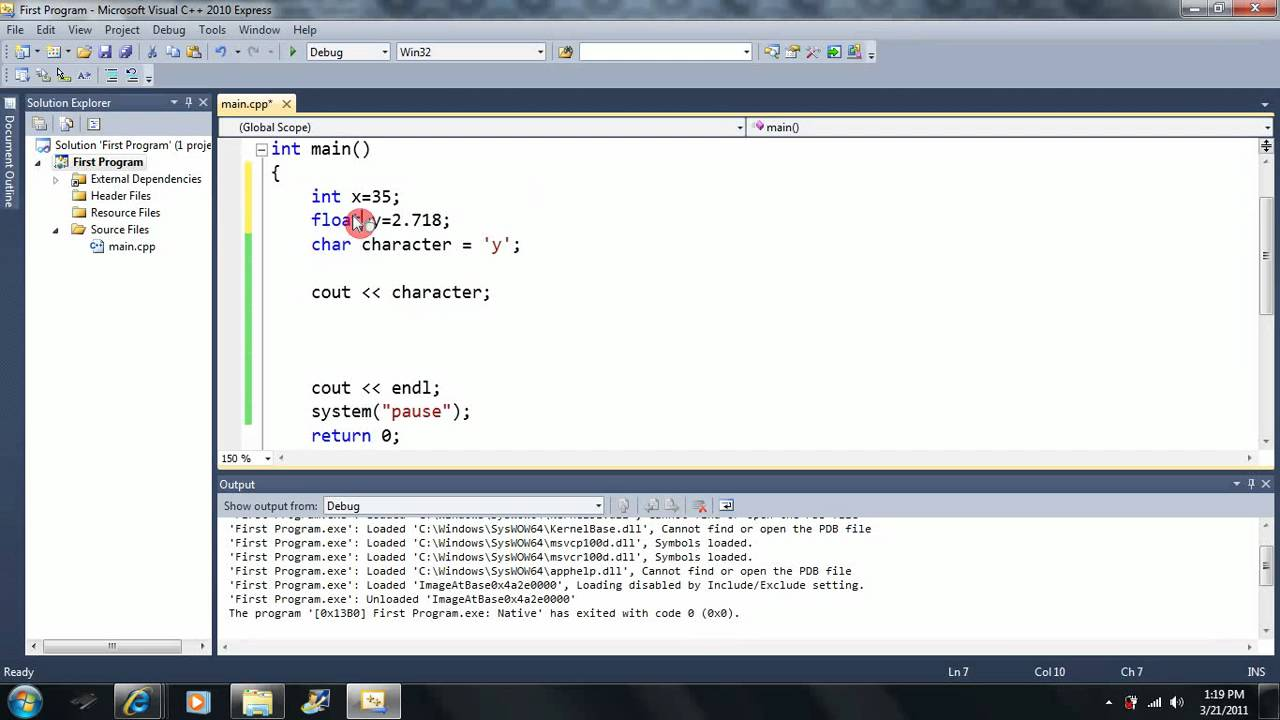 lesson 9  the char type  beginning programming with visual