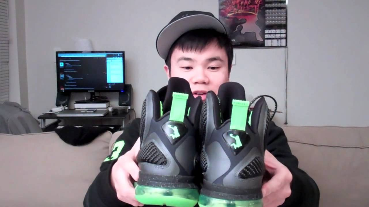 b619b2c29e90a0 Pickup  Lebron 9 Dunkman   Cool Grey and on feet footage - YouTube