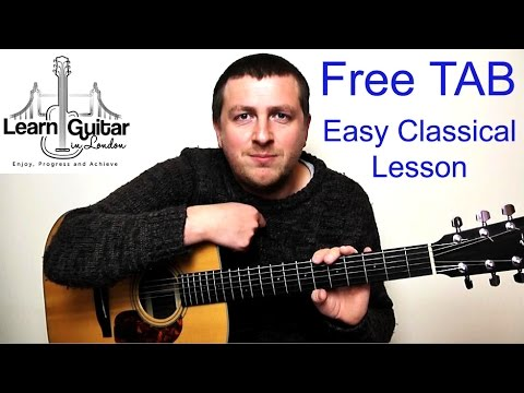 Romance - Easy Beginner Classical Guitar Lesson - Romanza - Drue James