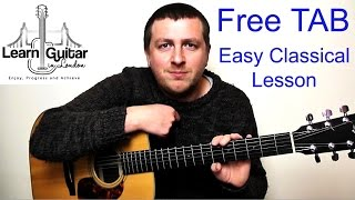 Romance - Easy Beginner Classical Guitar Lesson - Romanza