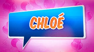 Joyeux anniversaire Chloé