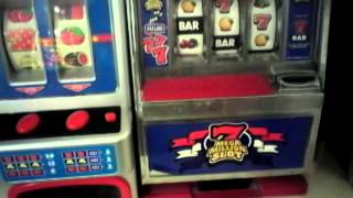Me playing on my 5 fruit machine
