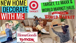 Decorate With Me! Target, Tjmaxx, And World Market Haul // Modern Decorating Inspiration
