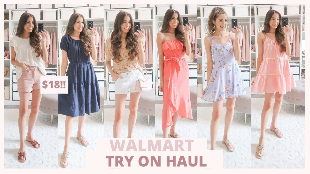 WALMART SUMMER TRY ON HAUL 2021 | Cute & Affordable Summer Outfit Ideas 🌴🌸
