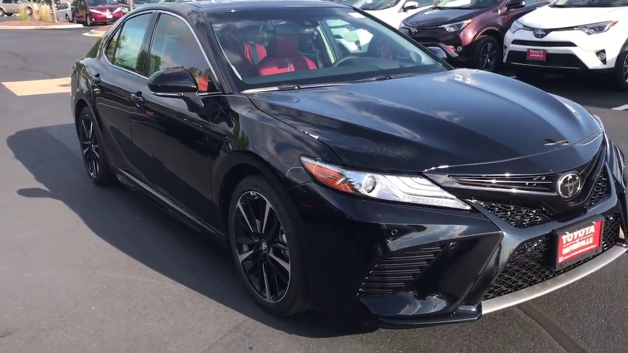 2018 Toyota Camry V6 Xse Start Up And Walk Around With Red Interior