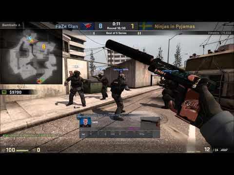 POV - Rain (FaZe)(24-11) vs NiP / overpass / IEM Oakland Grand Final map 4