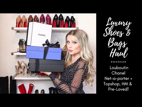 TRY ON HAUL SPRING 2019 : TOPSHOP H\u0026M LOUBOUTIN NET-A-PORTER AND MORE. UNBOXING!