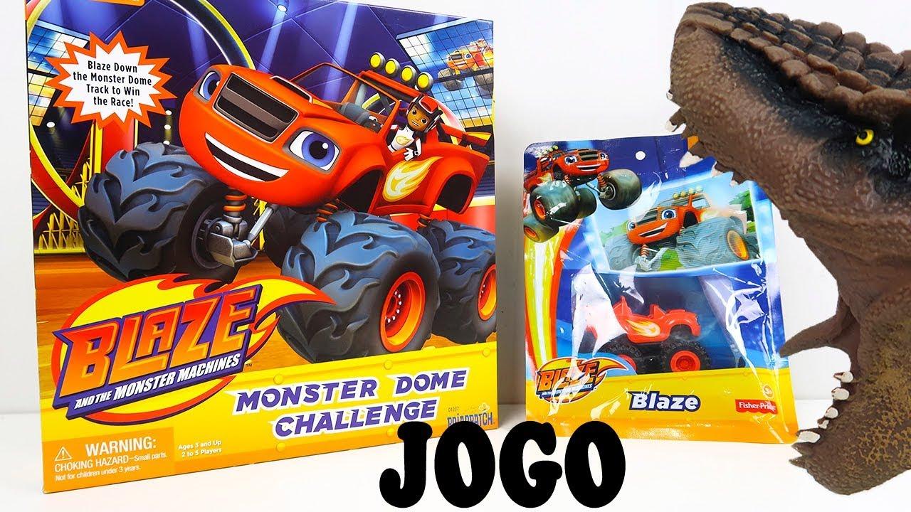 Dino Bagunca Joga Jogo Blaze And The Monster Machines Desenho