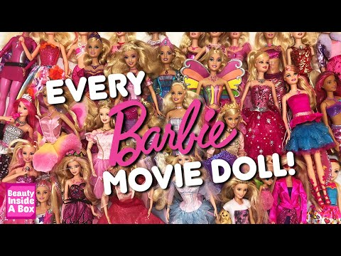 EVERY Barbie Movie Doll Full Collection 2001-2020 - Beauty Inside A Box