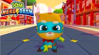 لعبة الركض| توم البطل Talking Tom Hero Dash بشخصية سوبر جنجر💪..مع نونه😍