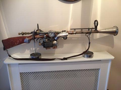 How i built a Steampunk Gun from scrap metal (weld art) Part 1