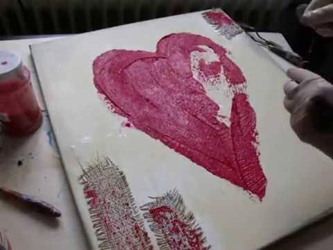 Plastische Acrylmalerei Mit Herz Glutenfrei Kochen Backen