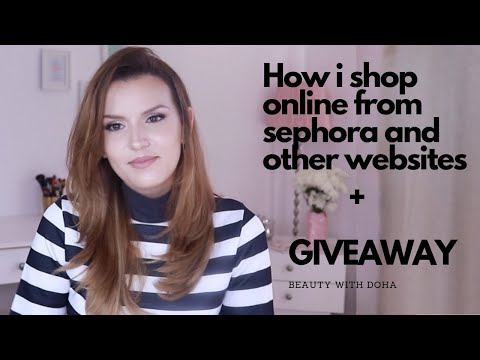Shopping and International shipping from sephora and other websites