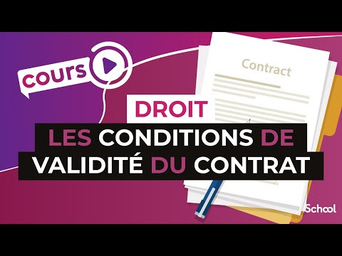 Les conditions de validité du contrat - Droit - digiSchool