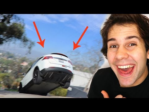 MY TESLA FLEW OFF THE GROUND!!