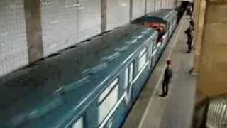 Moscow metro freigth train
