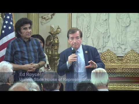 United States Representative, California Ed Royce on Emerging trends in U S   India relationship   L