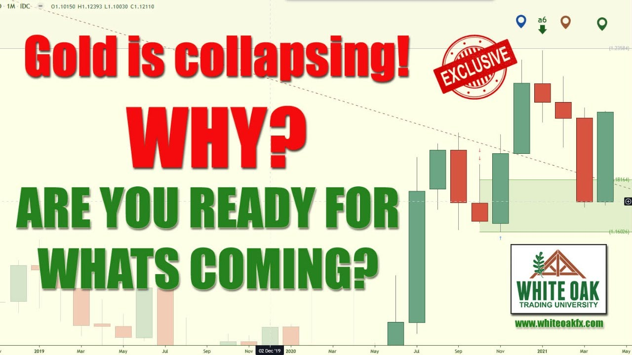 🚨 BREAKING: Gold is collapsing! WHY is GOLD dropping? Gold prices will go up or down? August 2021