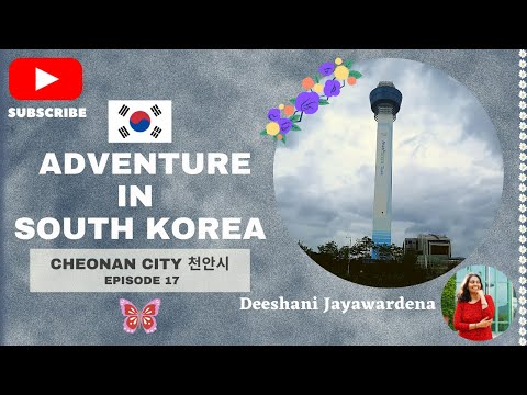 Cheonan city 천안시 Travel journal South Korea Episode 17 Travel memories | Asan Tower | Korean market