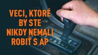 Pravidelná údržba FIAT DOBLO - návod na obsluhu