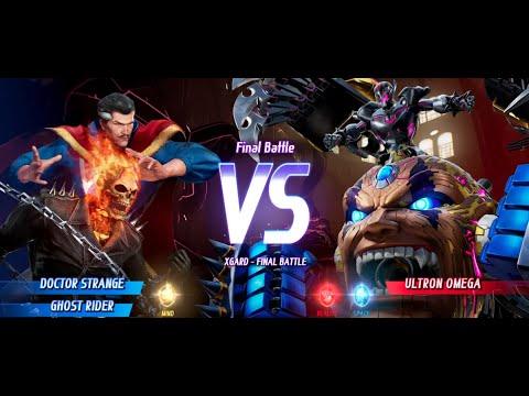 Doctor Strange and Ghost Rider vs Ultron Omega MARVEL VS. CAPCOM: INFINITE