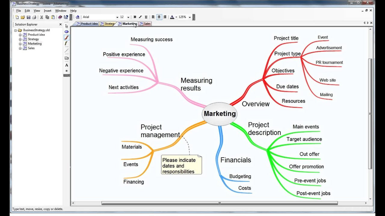Solina Mind Mapping: Business strategy planning on business simulation, business modelling, business planning function, business process, business surveillance, business blogging, business intelligence gathering, business reporting, business management, business networking, business documentation, business communications, business implementation, business financial chart, business concept model, business taxonomy,