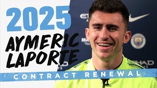 AYMERIC LAPORTE SIGNS UNTIL 2025 | MAN CITY