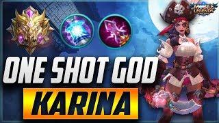 SKILL or LUCK? Insane Karina Mythical Glory Ranked Gameplay | Mobile Legends Karina Gameplay
