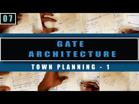 Architecture Gate study material -7 (Town Planning - 1)