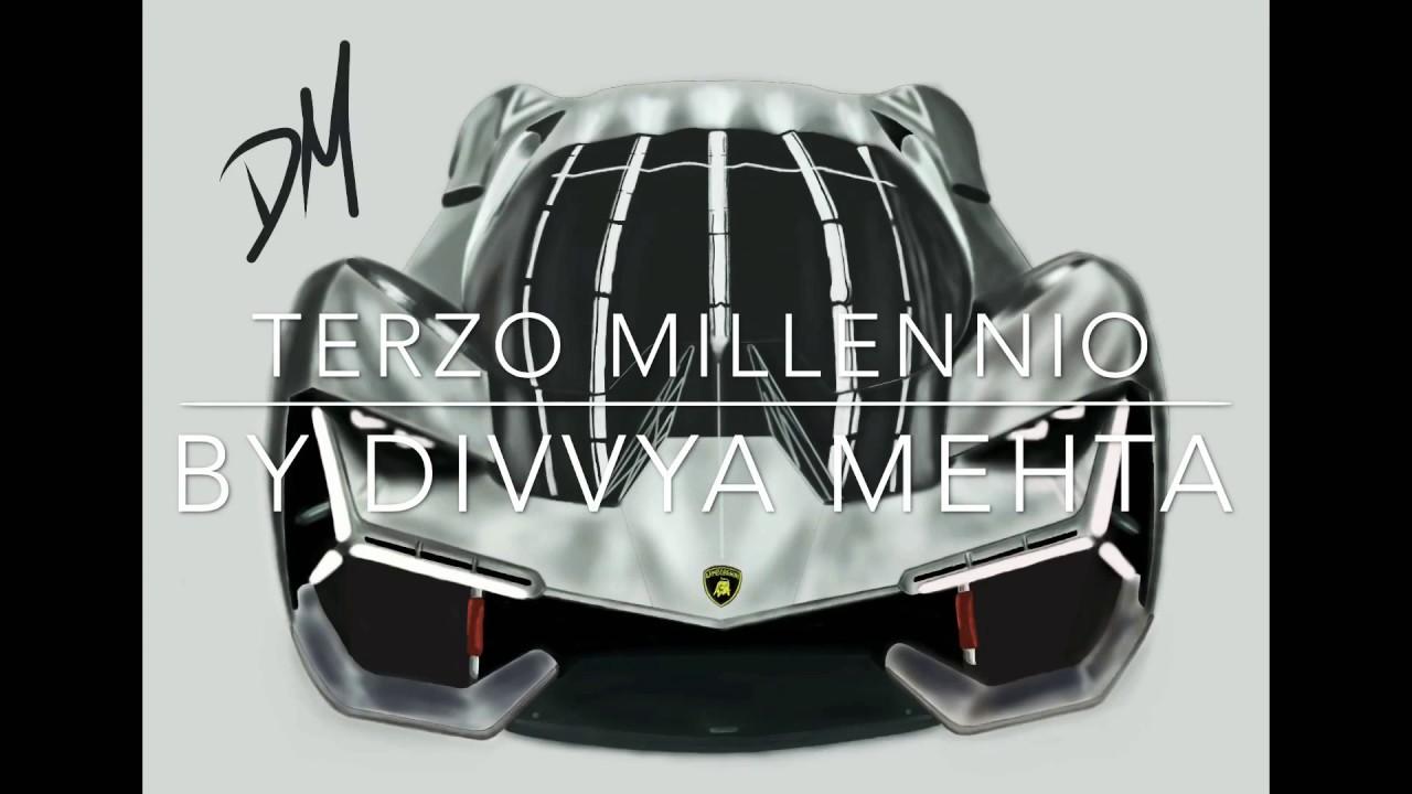 Lamborghini Terzo Millennio Drawing On Ipad Youtube