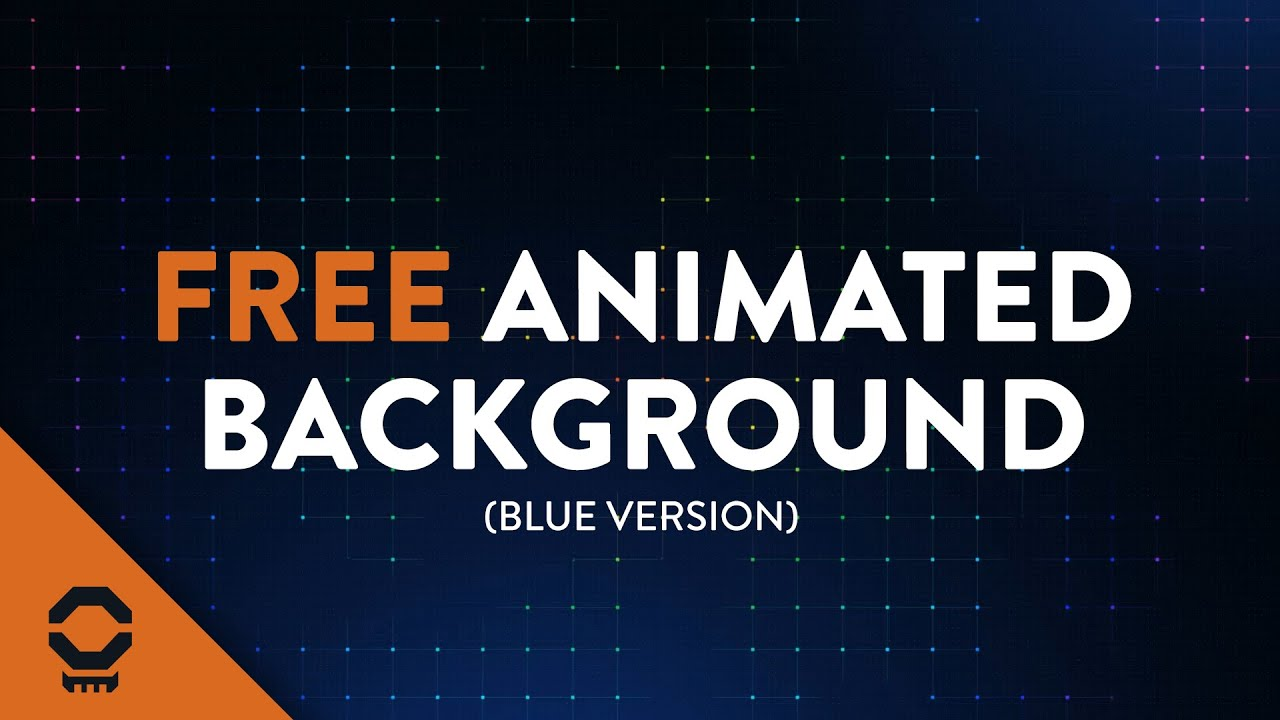 Free Looping Animated Background - Dark Blue Grid With Particles ...