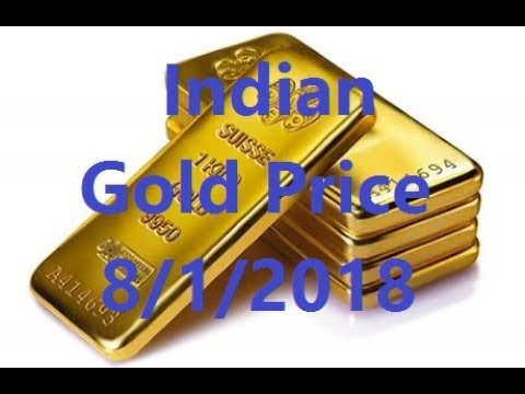 Indian  Gold Price today 8/1/2018