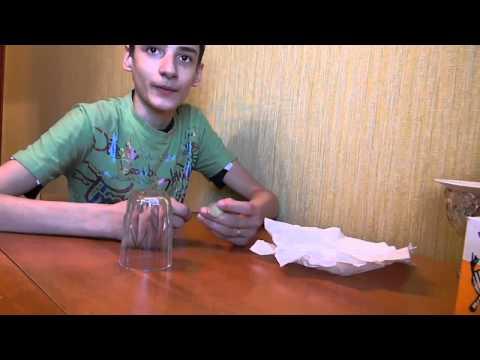 Секрет фокуса Стакан сквозь стол  Magic Tric Revealed Glass through Table