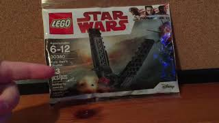 LEGO Star Wars Kylo rens shuttle speed build and review!!