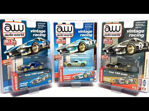 """Lamley Preview: Auto World X MiJo Exclusives Ken Miles & Le Mans """"Dirty"""" Ford GT40s"""