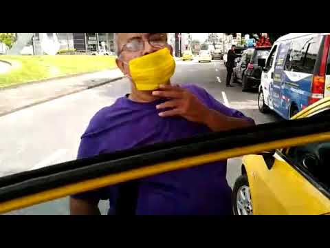 Un taxista que se cuida y protege a sus pasajeros